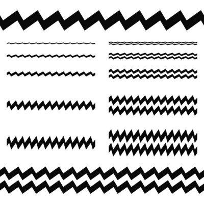Väggdekor Grafiska designelement - asymmetrisk linjeuppsättningen