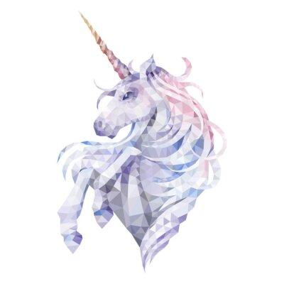 Väggdekor Graphic low poly unicorn