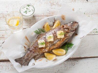 Väggdekor Grillad fisk