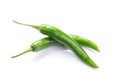 Väggdekor Grön chilipeppar