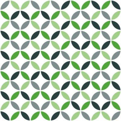 Väggdekor Grön geometriska Retro sömlösa mönster
