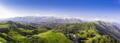 Väggdekor Gröna kullar och berg