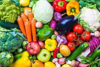 Väggdekor Grönsaker och frukt bakgrund.