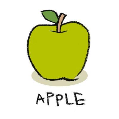 Väggdekor Grönt äpple