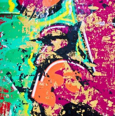 Väggdekor Grunge färgrik metall bakgrund