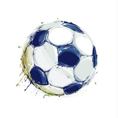 Väggdekor Grunge fotboll
