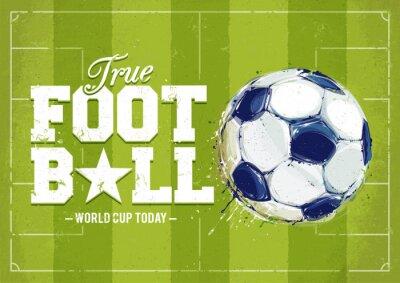 Väggdekor Grunge fotboll affisch