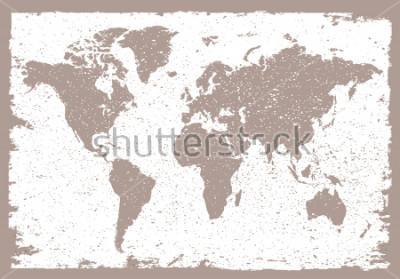 Väggdekor Grunge world map.Vintage map of the world.