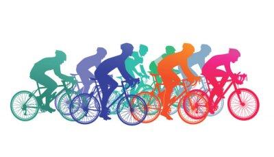 Väggdekor Gruppen för cyklister i cykellopp