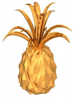 Väggdekor guld ananas
