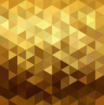 Väggdekor Guld mönster låg poly triangel geometri infall