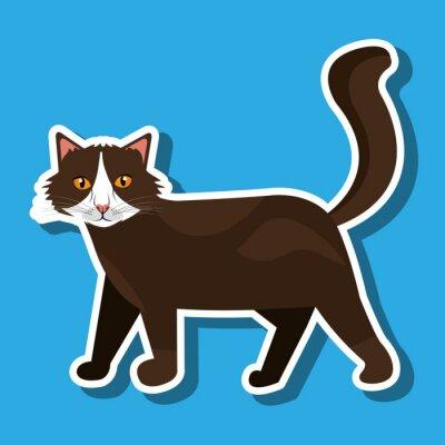 Väggdekor gulliga kattdesign
