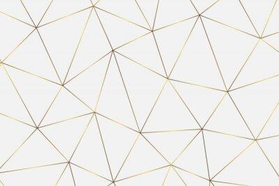 Väggdekor gyllene geometriska bakgrunden