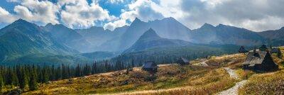 Väggdekor Hala Gasienicowa i Tatrabergen - panorama