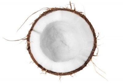 Väggdekor Hälften av kokosnöt toppvy