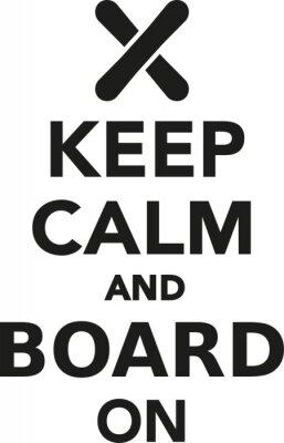 Väggdekor Håll lugn och styrelse på snowboard