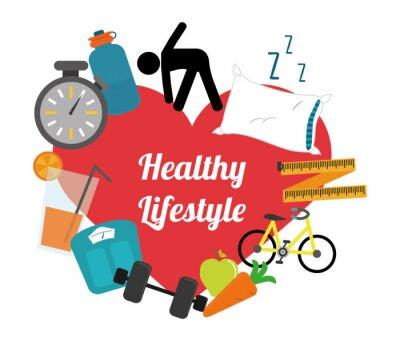 Väggdekor hälsosam livsstil