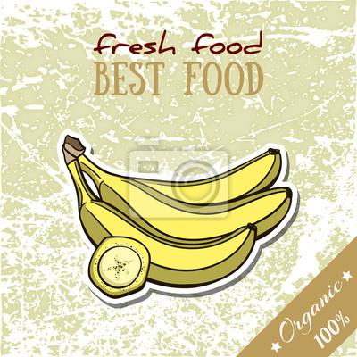Väggdekor Hälsosam mat Banana