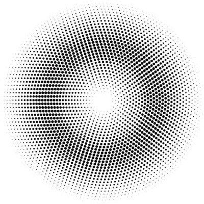 Väggdekor halvton cirkel.