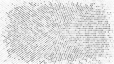Väggdekor Halvton prickad bakgrund. Halvton effektvektormönster. Cirkelpunkter isolerade på den vita bakgrunden.