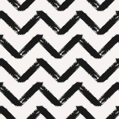 Väggdekor Hand Drawn Chevron sömlösa mönster