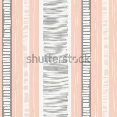 Väggdekor Handritade nyckfull strukturerade organiska linjer och sömlösa mönster för ränder. Färska abstrakta geometriska. Klotter.