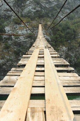 Väggdekor Hängbro i kanjonen