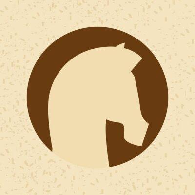 Väggdekor häst silhouettedesign