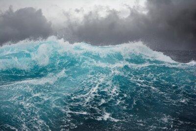 Väggdekor hav våg i Atlanten under storm