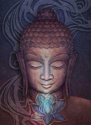 Väggdekor Head Smiling Buddha