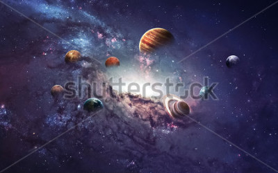 Väggdekor High resolution images presents creating planets of the solar system. This image elements furnished by NASA.