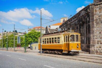 Väggdekor Historiskt Spårvagn, Porto