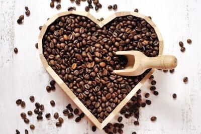 Väggdekor hjärtat av kaffebönor