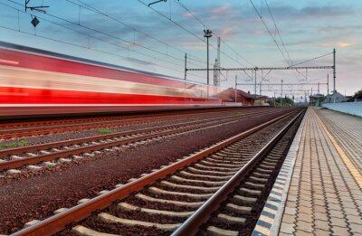 Väggdekor Höghastighetståg i station