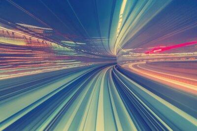 Väggdekor Höghastighetsteknikkoncept via Tokyo monorail