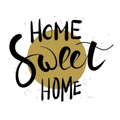 Väggdekor Home sweet home handen bokstäver.