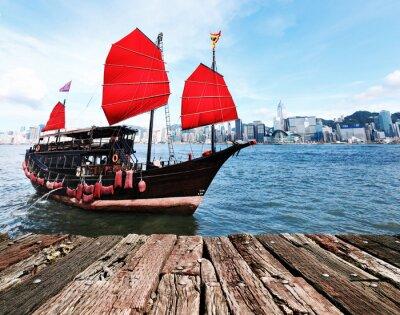 Väggdekor Hong Kong Harbour