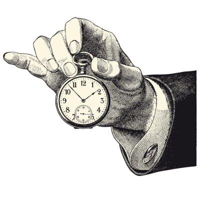 Väggdekor Huvud d'homme hyresgäst une montre