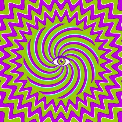 Väggdekor Hypnotisk retro affisch