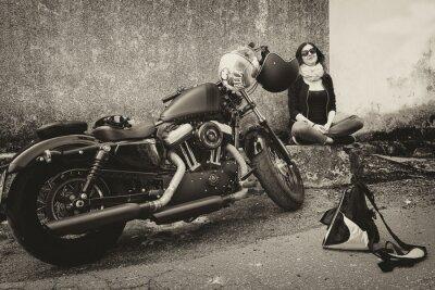 Väggdekor I Viaggio con la moto