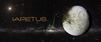 Väggdekor Iapetus i yttre rymden.