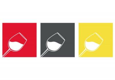 Väggdekor Icono plano copa de vino # 3