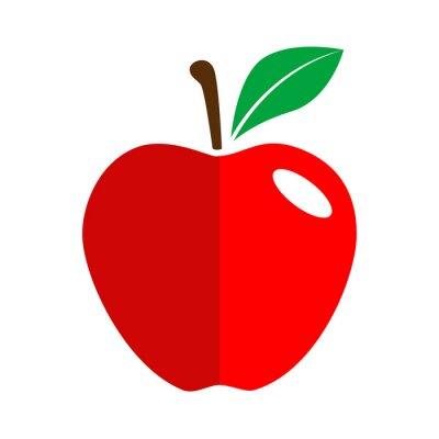 Väggdekor Icono plano manzana
