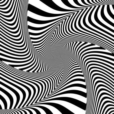 Väggdekor Illusion av vridning vridrörelse.