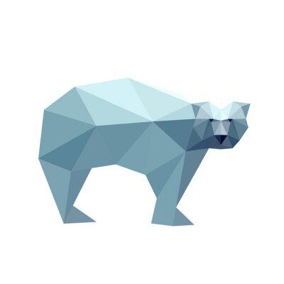 Väggdekor Illustration av polygonal björn
