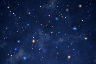 Väggdekor Illustration of a beautiful night sky