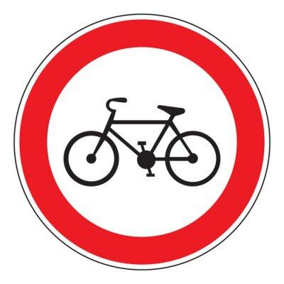 Väggdekor ingen cykel tillåtna tecken