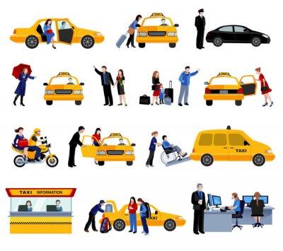 Väggdekor Inställda taxi Ikoner