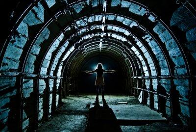 Väggdekor Interiör från tunneln i övergiven kolgruva