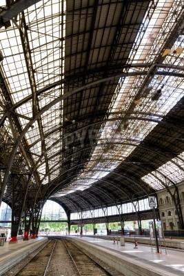 Väggdekor Intressant järnvägsstation i bild